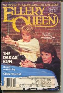 Ellery Queen 8/1988-Cagney & Lacey-hard boiled crime pulp-VG