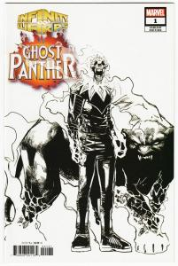 Infinity Wars Ghost Panther #1 Ramos 1:10 B&W Design Variant (Marvel, 2019) NM
