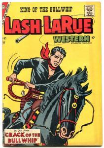Lash LaRue #65 1957- Charlton Western- Stan Campbell FN+
