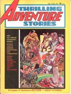 THRILLING ADVENTURE STORIES (1975) 1 VG-F Feb. 1975