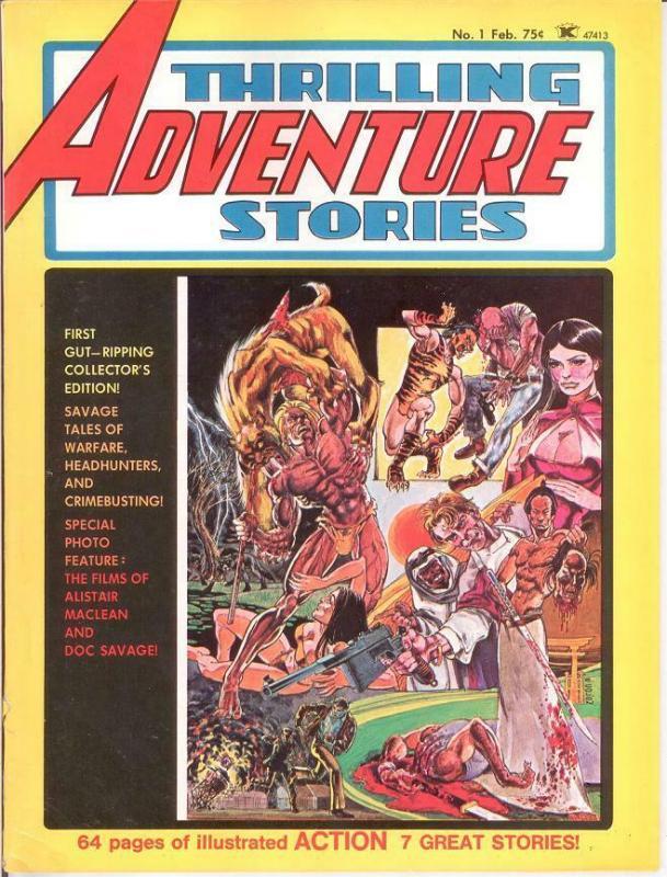 THRILLING ADVENTURE STORIES (1975) 1 VG-F Feb. 1975