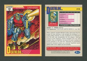 1991 Marvel Comics II  Card  #16 ( Deathlok)  MINT