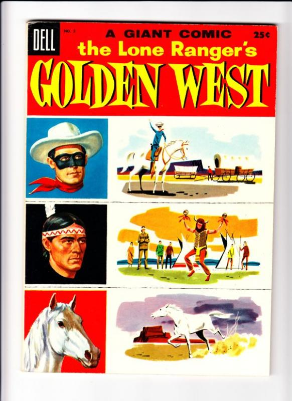 Lone Ranger, The Golden West Dell Giant #3 (Aug-55) VF+ High-Grade The Lone R...