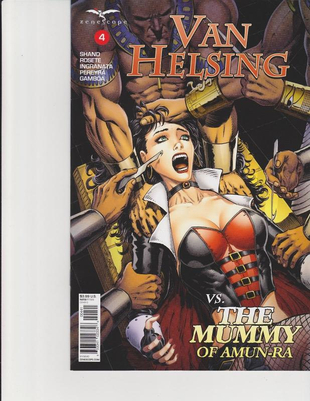 Van Helsing vs The Mummy #4 Cover D Zenescope Comic GFT NM Metcalf