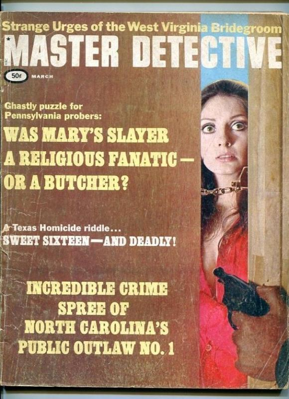 MASTER DETECTIVE-03/1969-SLAYERS-BUTCHER-CRIME SPREE-STAB-DEATH HOUSE VG