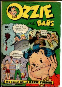Ozzie and Babs #3 1948-spicy female imagery-comix cards-G