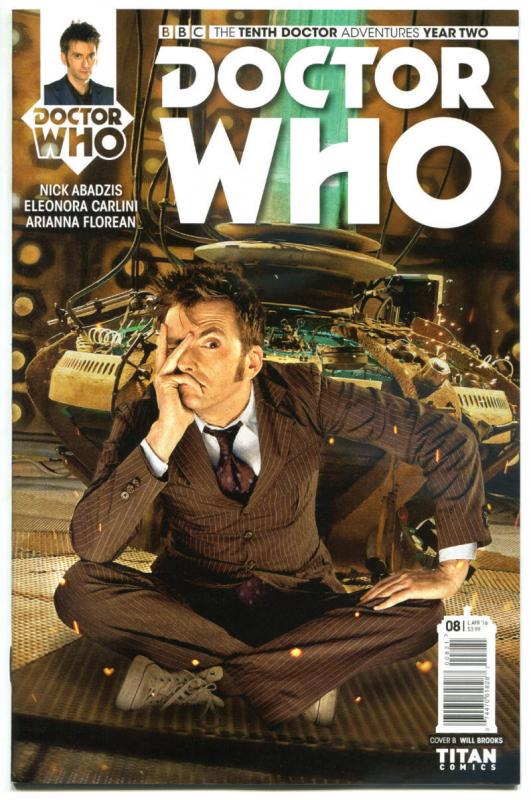 DOCTOR WHO #8 B, NM, 10th, Tardis, 2015, Titan, 1st, more DW in store, Sci-fi