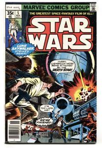 STAR WARS #5-Marvel-1977- Darth Vader  VF/NM comic book