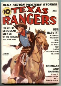 Texas Rangers Pulp March 1938- Sergeant Sieker- Gun Harvest