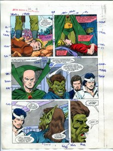 Justice Machine #24 Page #9 1988 Original Color Guide