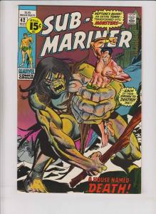 Sub-Mariner #42 VF- bronze age marvel comics - gerry conway - george tuska 1971