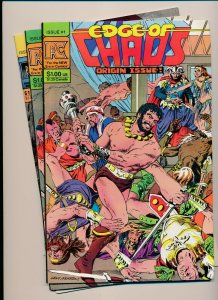 PC Set of 3-EDGE OF CHAOS #1-#3 includes origin issue VERY FINE+ (PF948)