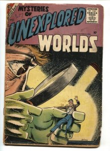 Mysteries of Unexplored Worlds #3 1957- Ditko cover- Charlton Horror
