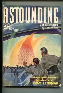 ASTOUNDING STORIES-NOV 1939-STREET & SMITH-L RON HUBBARD-fn/vf