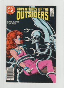 Adventures of the Outsiders #45-46 FVF (1987, DC Comics) Super Scarce Newsstand!