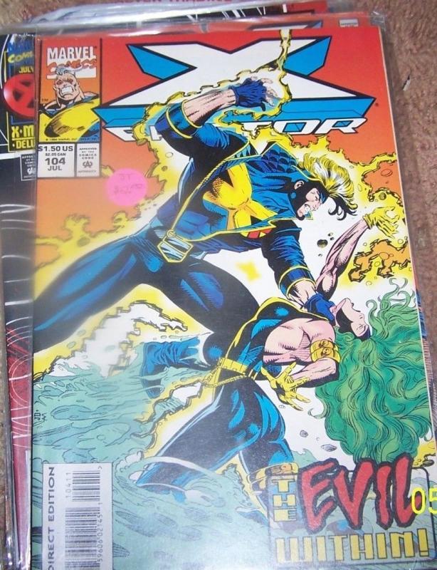 X FACTOR # 104 1994 marvel   X-MEN  HAVOC POLARIS MR SINISTER