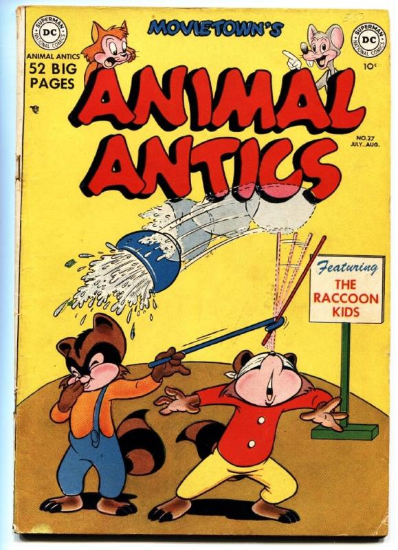 ANIMAL ANTICS #27 comic book 1950-RACCOON KIDS-Funny Animal-GOLDEN AGE