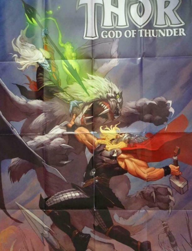 THOR GOD OF THUNDER Promo Poster, 24 x 36, 2013, MARVEL, Unused 296