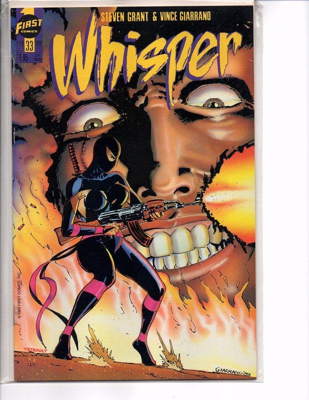 First Comics Whisper #31 & 33 NM Steven Grant Steve Epting