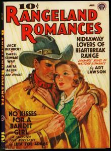 PULP PROOF RANGELAND ROMANCES 08/39 ART LAWSON ESTATE