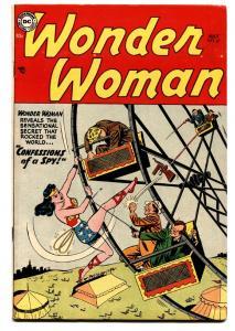 WONDER WOMAN  #67 comic book 1954-DC-Ferris wheel cover-Golden Age