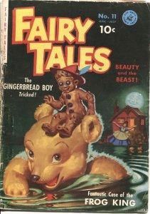 FAIRY TALES #11-ZIFF DAVIS-1951-GINGERBREAD BOY COVER-BEAUTY & THE BEAST--RARE