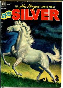 Lone Rangers Famous Horse Hi-Yo Silver-#4 1952-Dell-painted cover-VG+
