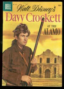DAVY CROCKETT-AT THE ALAMO-FOUR COLOR #639 1955-DELL-TV FN