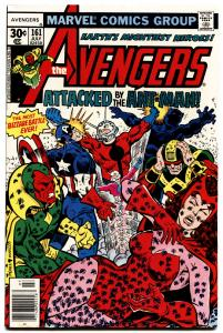 Avengers #161 1977- Ant-Man Scarlet Witch Vision cover-George Perez