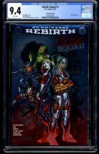 Suicide Squad (2016) #1 CGC NM 9.4 Convention Silver Foil Variant Edition!