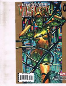 Lot of 3 Ultimate Vision Marvel Comic Books #0 1 4 BH51