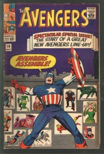 AVENGERS 16 F+ 6.5 ;CLASSIC COVER! NEW LINEUP!HIGHER GRADE!