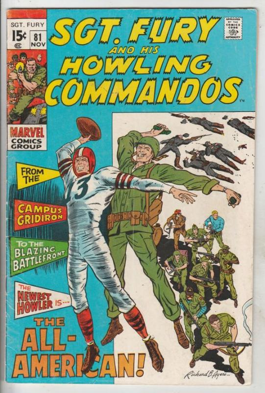 Sgt. Fury and His Howling Commandos #81 (Nov-70) FN Mid-Grade Sgt. Fury, Howl...