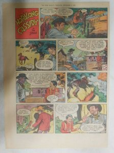 Hopalong Cassidy Sunday Page by Dan Spiegle from 9/6/1953 Size: 11 x 15 inches