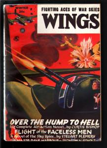 WINGS PULP-WINT 1945-FICTION HOUSE-WWII ACTION! VG/FN