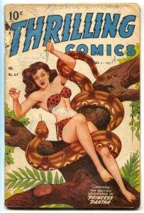 Thrilling Comics #64 1947- Princess Pantha- Doc Strange- Schomburg G+