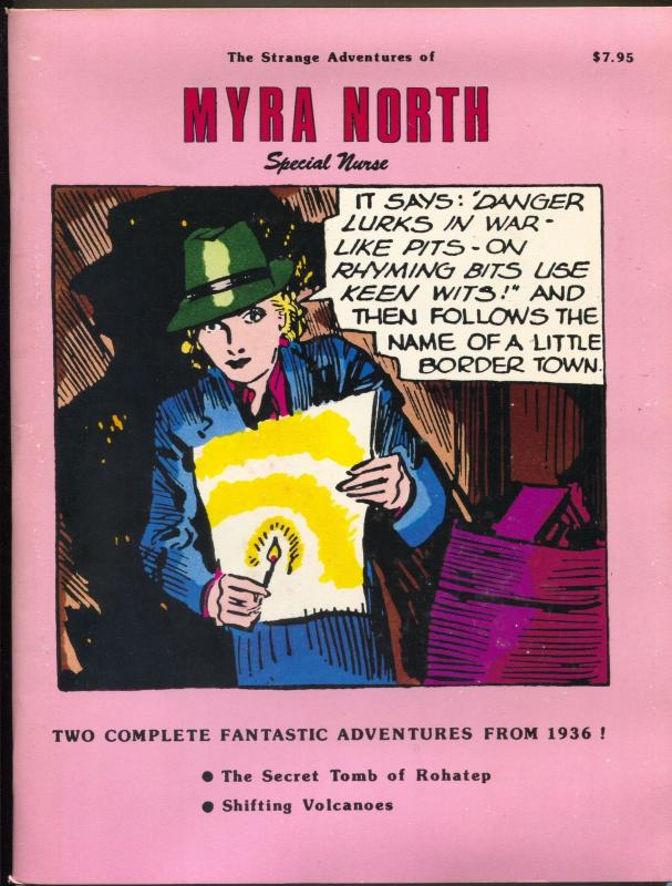 Strange Adventure of Myra North Special Nurse 1987-reprints 1936 comic strips-VF