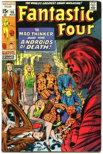 FANTASTIC FOUR #96, FN/VF, Mad Thinker, Jack Kirby, 1961, more FF in store, QXT