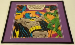 Batman Batgirl Catwoman Framed 11x14 Photo Display