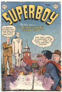 SUPERBOY #19-1952-DEATH OF CLARK KENT-LOW GRADE-BARGAIN COPY--DC