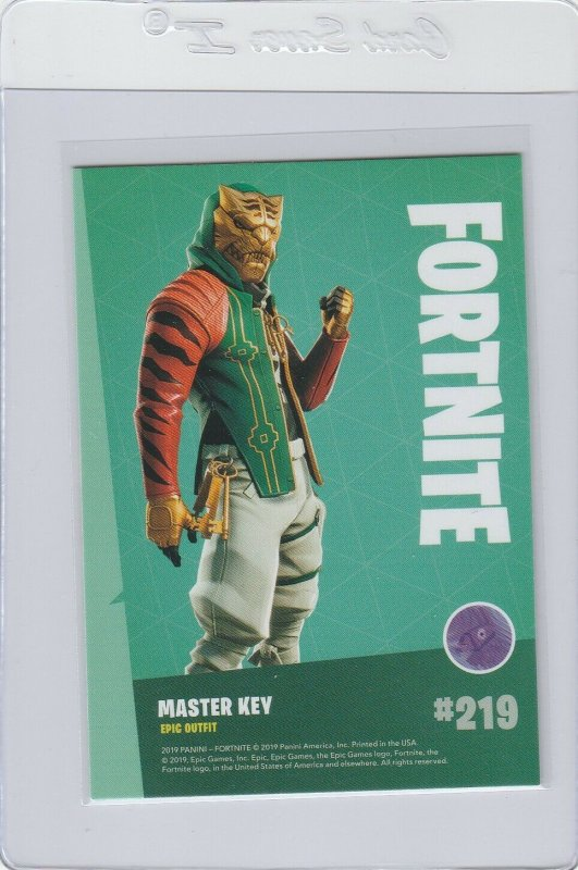 Fortnite Master Key 219 Epic Outfit Panini 2019 trading card series 1