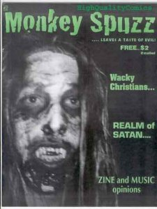 MONKEY SPUZZ #2, Evil, Wacky Christians,  NM , Brain Ooze, Realm of Satan