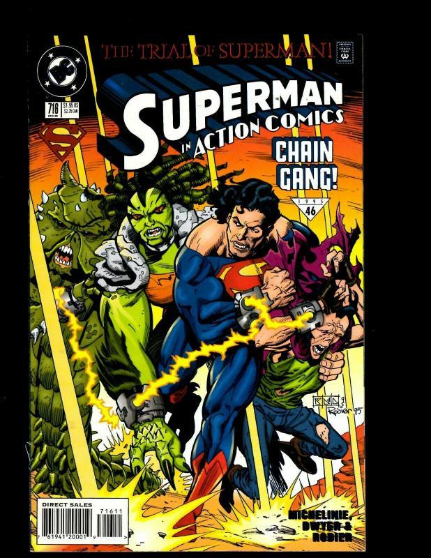 12 Action Comics Comics #715 716 717 718 719 720 721 722 723 724 725 726 J406