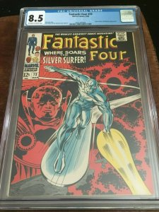 FANTASTIC FOUR 72 - CGC 8.5 - CLASSIC KIRBY SILVER SURFER COVER - SILVER AGE KEY