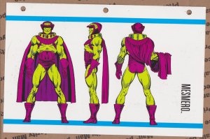 Official Handbook of the Marvel Universe Sheet- Mesmero