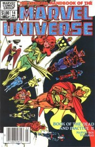Official Handbook of the Marvel Universe (Vol. 1) #14 (Newsstand) FN; Marvel   s