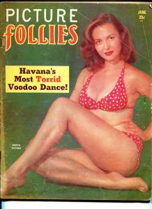Picture Follies 6/1953-cheesecake-Greta Thyssen-Voodoo Dance-exploitation-G/VG