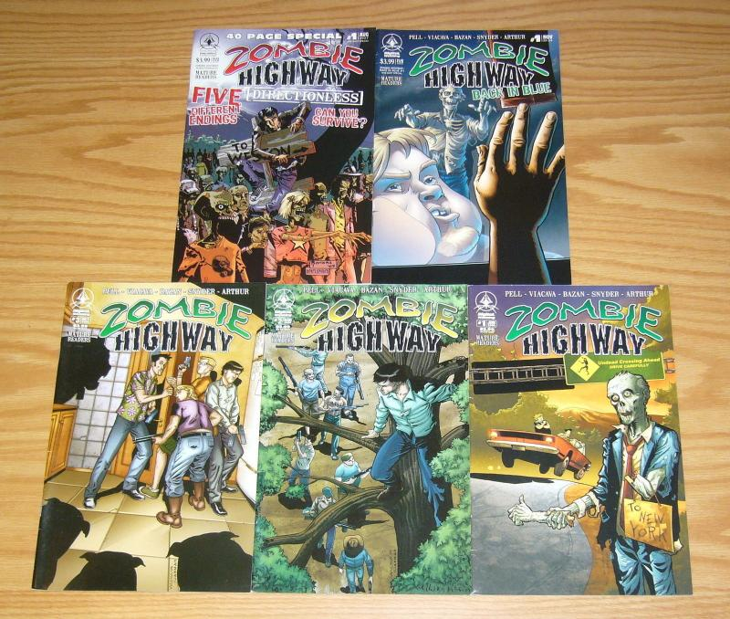 Zombie Highway #1-3 VF/NM complete series + back in blue + directionless - set 4