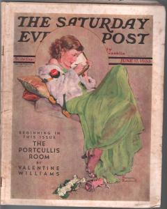 Saturday Evening Post  6/17/1933-Rockwell cover-complete magazine-VG