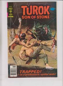 Tuork, Son of Stone #118 VF+ november 1978 - prehistoric spider web - gold key